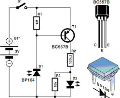 infrared detector circuit diagram using bc electronics infrared detector circuit diagram using bc557