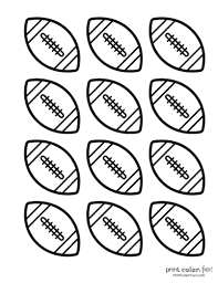 🖍 over 6000 great free printable color pages. 17 Free Football Coloring Pages Party Printables Print Color Fun