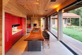 Small Picture Kitchen Design Rustic Modern Kitchen Design With Long Built In