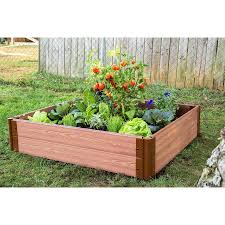 composite raised garden bed. Modren Bed Frame It All 48in W X L 11in Inside Composite Raised Garden Bed Y