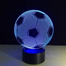 ball night light. soccer ball football 3d led night light 7 color changing table desk touch lamp christmas kids