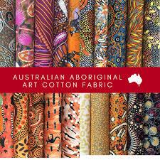 aboriginal art fabric 20 fat quarter bundle e by m s textiles australian aboriginal art