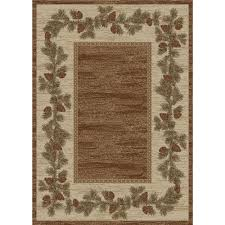 mountain view brown pinecone rug