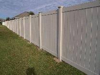 Image White Tan Vinyl Privacy Fence Posts Vinyl Fence Vinyl Fence