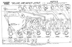 fender layout diagrams fender deluxe ab763 layout diagram