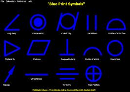 Web Machininst Blueprint Symbols Chart