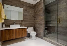wood grain tile shower wall