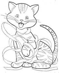 Small Picture Easy Cat Face Coloring Coloring Pages Cat Templates to Zentangle