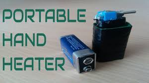 Portable Battery Powered Heater Diy Portable Hand Heater Winter Gadget Youtube