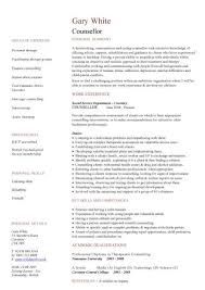 Care worker CV, Counsellor CV