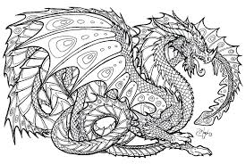 dragon pictures to print and color.  And Dragon Color By Number Hard Printable For Adults Coloring  Pages In Dragon Pictures To Print And Color F