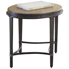 steve silver gianna round end table in antique