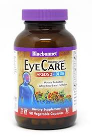 bluebonnet nutrition targeted choice eyecare areds 2 blue vegetable capsules by bluebonnet image