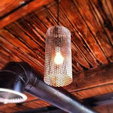 custom made custom perforated metal pendant lights