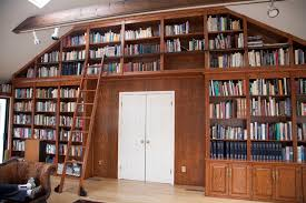 Rolling Library Ladder traditional-home-office