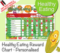 Healthy Eating Chore Chart Personalised Magnetic Dry Wipe