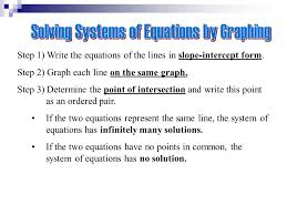 the system of equations has no solution step 1 write the equations of the lines in slope intercept form