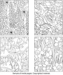 Small Picture Creative Haven Floral Design Color by Number Coloring Book