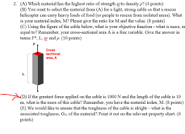 Sectional Density Chart Find Mass Of Rope And Objective Function Given Str