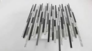 Aluminium Mosaik Fliesen Verbund Schwarz Grau - YouTube