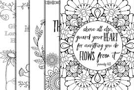 Small Picture 12 Bible Verse Coloring Pages Instant Download Value Bundle