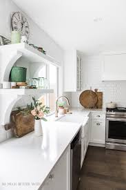 complete kitchen supply list white kitchen with wood accents so much better with age
