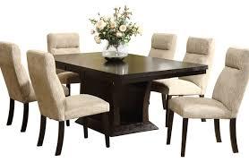 homelegance avery 7piece pedestal dining room set in espresso 7 piece dining room set l53