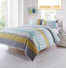 carter duck egg cotton rich duvet set expand