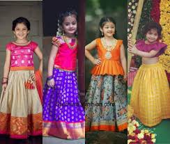 Indian Baby Girl Lehenga Designs Kids Pattu Pavadai Designs South India Fashion Kids