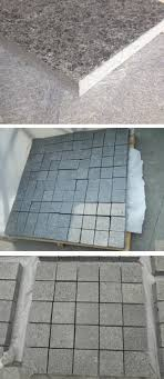 chinese flamed and polished g684 black flooring tile granite