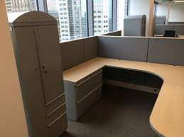 office work surfaces. Knoll \u0027Dividends\u0027 8\u0027 X 7.5 Cubicles - A Whole Lot Of Storage, Lateral Files, Cupboards, Closet, 2 Box And 1 File Drawer. Maple Laminate Work Surfaces, Office Surfaces