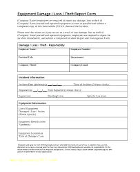 Theft Incident Report Template Incident Report Template