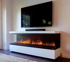 Peninsula Electric Fireplace With Water Vapor Technology Handmade Water Vapor Fireplace