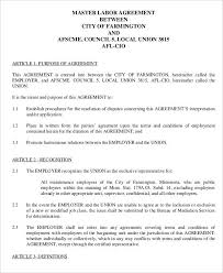 The various terms and conditions agreed upon under a contract that is entered into between the labour and the management : 5 Labor Agreement Templates Free Word Pdf Format Download Free Premium Templates