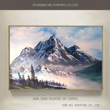 wonderful natural scenery oil painting on canvas abstract mountain hills oil painting for drawing room and