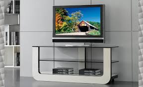contemporary glass tv stands