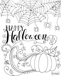 100 Happy Halloween Coloring Pages Sheets Free To Print Happy