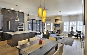 dark modern open floor plan