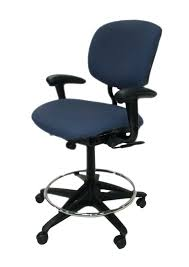backless chair used office furniture he blue fabric drafting stool backless office chair stool chair um