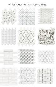 backsplash tile patterns. White-geometric-tiles - Many More Patterns Backsplash Tile