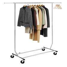 hlc chrome collapsible adjustable single rail rolling commercial folding garment rack clothing hanging xmas gift in coat racks from furniture on collapsible clothing rack g23