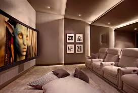 Small Picture Lower storey cinema room hometheater projector home theatre