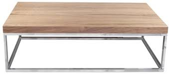TemaHome Prairie Rectangular Coffee Table - Walnut with Metal Frame image 2