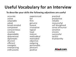 Resume Adjectives Amazing Resume Describing Words Orlandomovingco