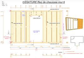 plan construction maison bois