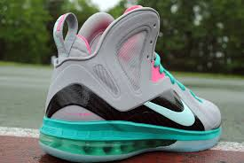 lebron 9 south beach. the prominence of \u201csouth beach\u201d colorway can be arguably ranked among one most appealing colorways in sneaker history. from tee shirts to sliders lebron 9 south beach