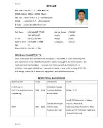 Html Resume Samples Resume Format Word Filemples Html Student Intended For Standard Code 6