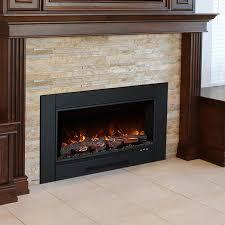 brick electric fireplace insert