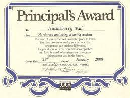 Principal Award Certificate Principal S List Certificate Template Award Yeni Mescale Co