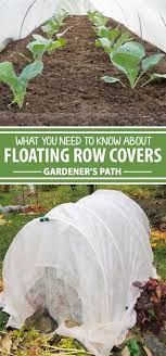 a collage of photos showing diffe photos of floating row covers